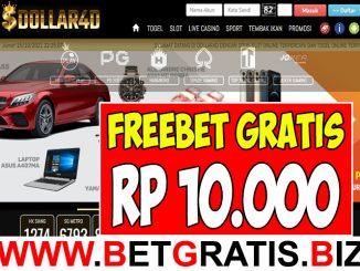 DOLLAR4D - FREEBET GRATIS RP 10.000 TANPA DEPOSIT