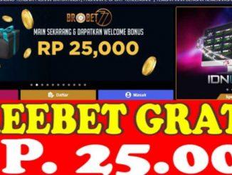 Freebet Gratis Tanpa Deposit Rp 25 Ribu Dari BROBET77