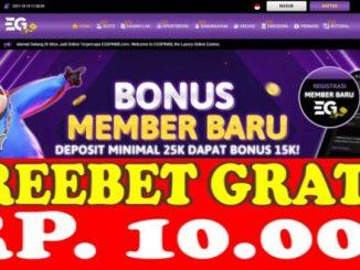 Freebet Gratis Tanpa Deposit Rp 10 Ribu Dari EGSPIN88