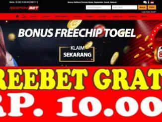 Freebet Gratis Tanpa Deposit Rp 10 Ribu Dari RESPONBET