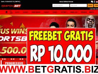 RESPONBET - FREEBET GRATIS RP 10.000 TANPA DEPOSIT